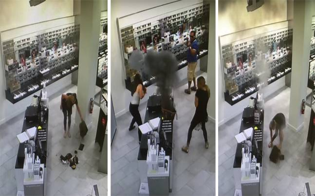 Vape Inside Woman's Louis Vuitton Bag Explodes