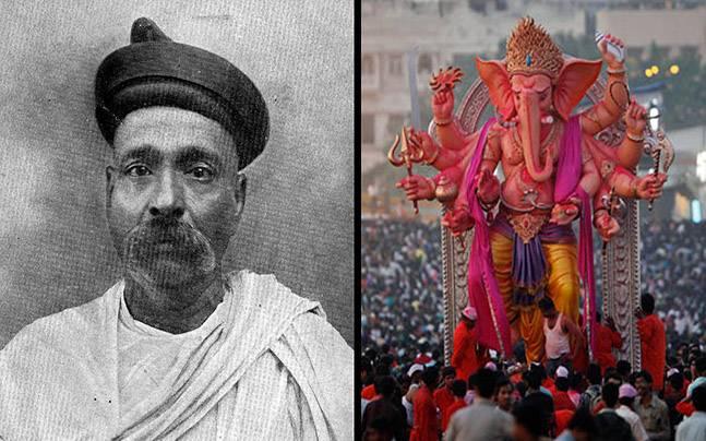 Image result for ganesh chaturthi Bal Gangadhar Tilak