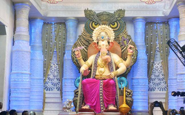 Ganesh chaturthi 2016 heres the first look at mumbais famous first look of lord ganesha at lalbaugcha raja photo milind shelteindia today thecheapjerseys Image collections