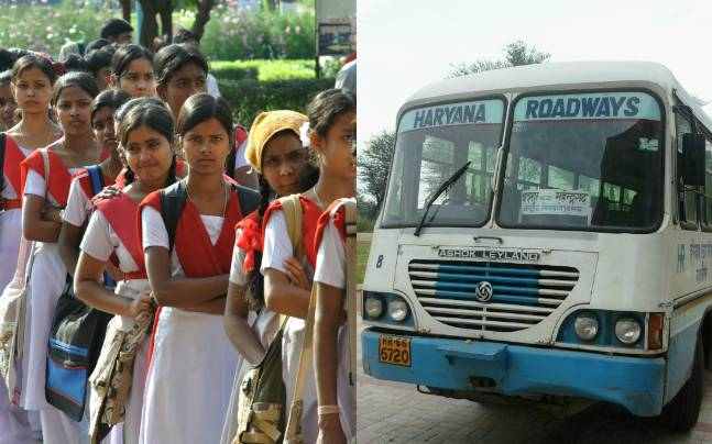 Free bus rides for girl students in Haryana