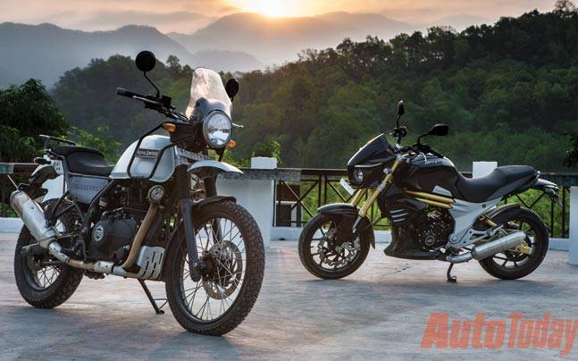 Royal Enfield Himalayan Vs Mahindra Mojo Clash Of The Unnatural