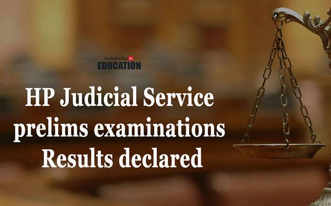 HP Judicial Service Prelims Examinations results declared at www.hp.gov.in/HPPSC