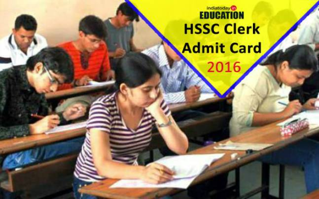 HSSC Clerk Exam 2016 admit card to be released soon