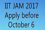 IIT JAM 2017: Registration ending on October 6
