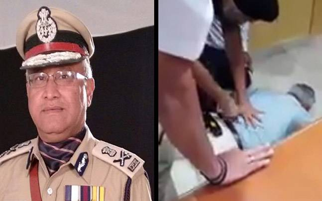 UP DGP Javeed Ahmad has taser gun tested on him, video is now viral