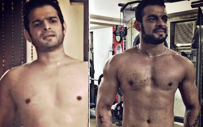 Karan Patel, before and after. Picture courtesy: Instagram/karan9198