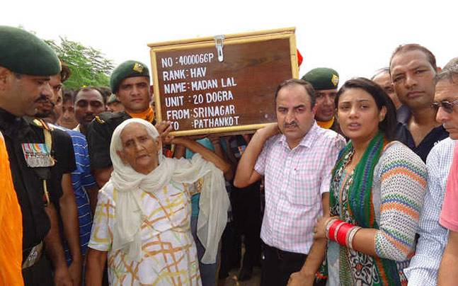 Last rites of Madan Lal