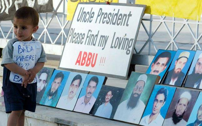 Protests against missing persons