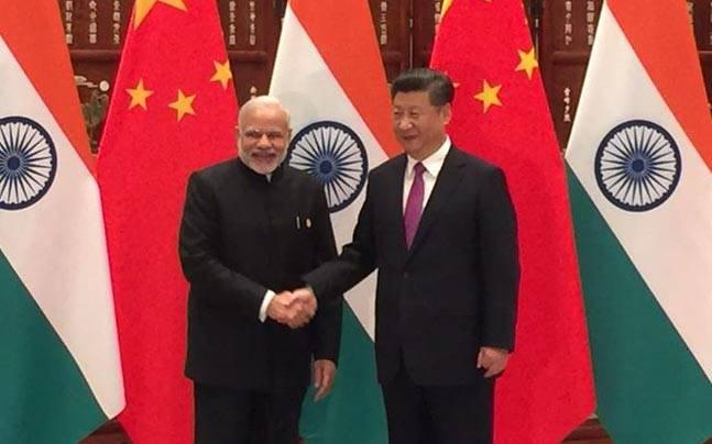 Modi with Xi Jinping
