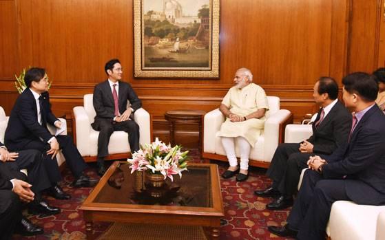 Samsung VC Jay Y Lee meets PM Modi