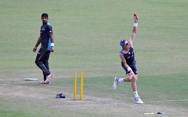 Black Caps train at the Green Park stadium in Kanpur