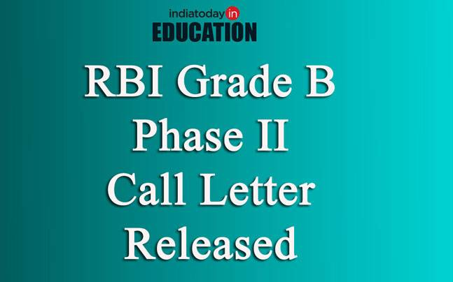 RBI Grade B Phase II call letter released