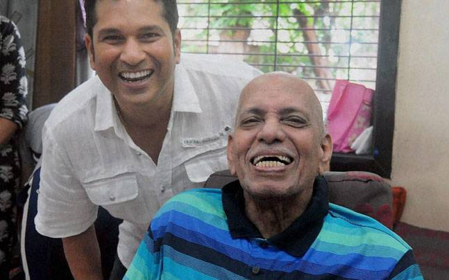 Sachin Tendulkar and his coach Ramakant Achrekar