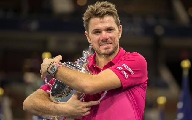 Stan Wawrinka celebrates after winning US Open title. (Reuters Photo)