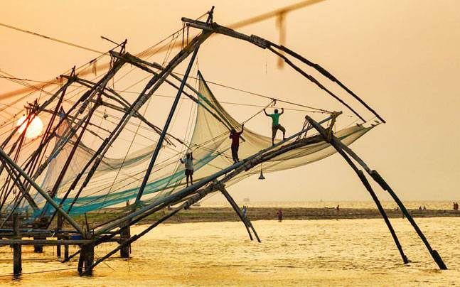 The Chinese fishing nets at Fort Kochi are popular tourist attractions. Picture courtesy: Facebook/Audi Photography