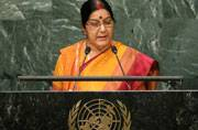 Sushma tears into Sharif's doublespeak: Stop dreaming about Kashmir
