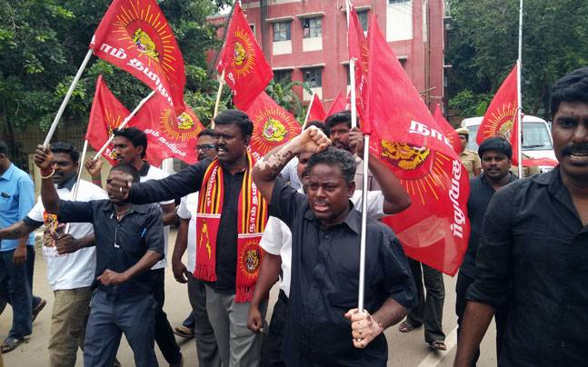 Pro-Tamil groups protest