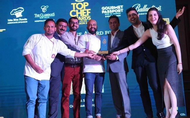 A.D. Singh's team collected the award on his behalf at the Top Chef Awards. Photo: Top Chef Awards