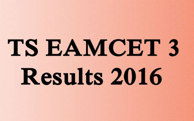 TS EAMCET 3 2016 results declared, check results at tseamcet.in