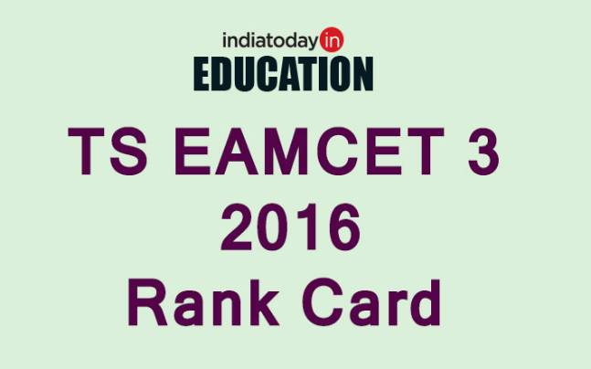 TS EAMCET 3 2016 Rank Card available for download at www.tseamcet.in