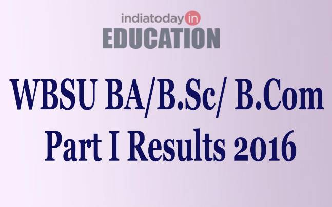 WBSU BA/B.Sc/B.Com Part I general examinations results declared