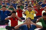 Heavy pouring prevents schools from organising Yoga programme