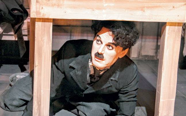 A wax statue of Chaplin at Chaplin's World. Photo: Mail Today