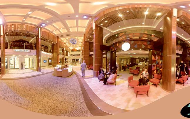 The cruise promenade as seen on the virual reality app. Picture courtesy: Mail Today