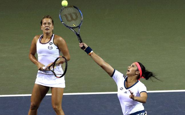 Sania Mirza and Barbora Strycova (AP Photo)