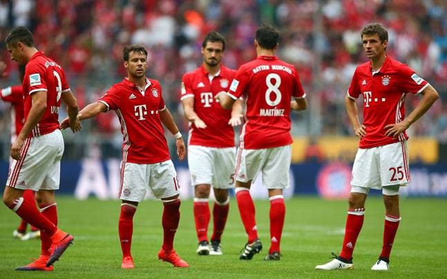Bayern Munich players (Reuters Photo)