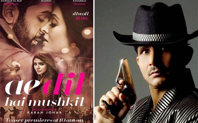 A poster of Ae Dil Hai Mushkil (L) and Kamaal Rashid Khan