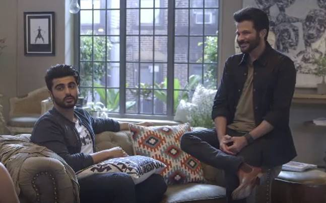 Anil Kapoor and Arjun Kapoor will grace the coming episode of Vogue BFFs.