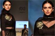 AIFW 2017: Aditi Rao Hydari proves one can never go wrong with black and gold