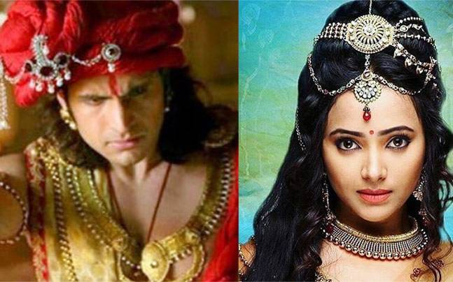 Rajat Tokas and Shweta Basu Prasad as Chandra and Nandni. Picture courtesy: Instagram/chandranandni