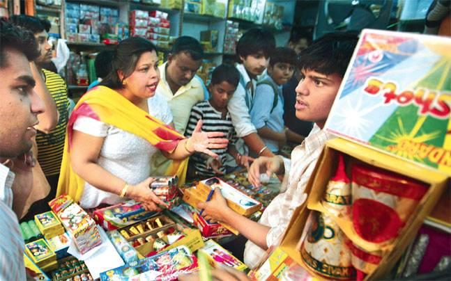 Firecracker shop, Delhi
