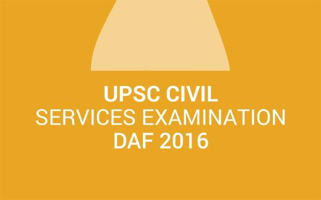 UPSC Civil Services Examination 2016