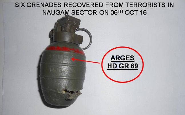 Grenade made in Pakistan Ordnance Factory