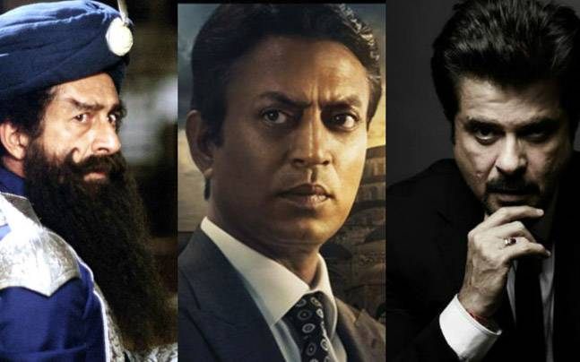(L to R) Naseeruddin Shah in The League of Extraordinary Gentlemen, Irrfan in a still from Inferno and Anil Kapoor
