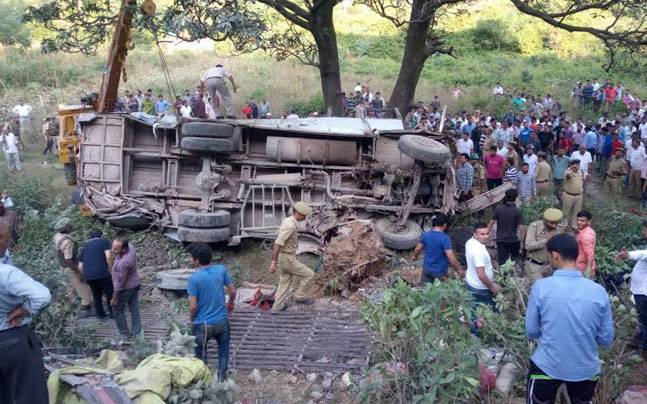 21 killed, 40 injured after bus falls in gorge in Reasi