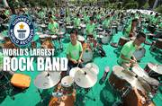 We will, we will rock you: World's largest rock band breaks record with 953 musicians