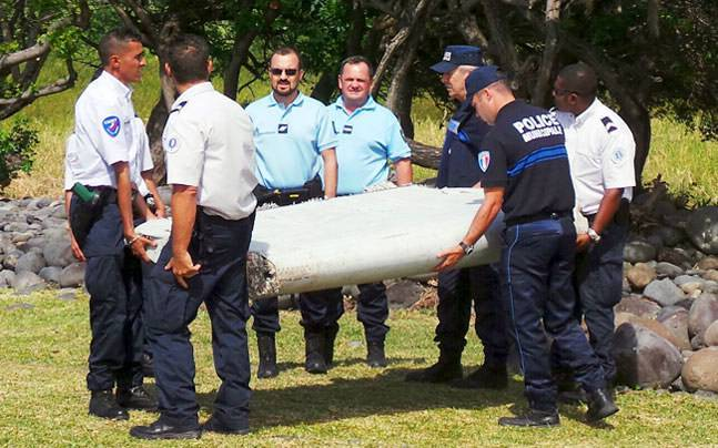 Investigators previously confirmed a piece of debris found on the French island of Reunion (above) in July 2015 was also part of MH370. (File Photo)