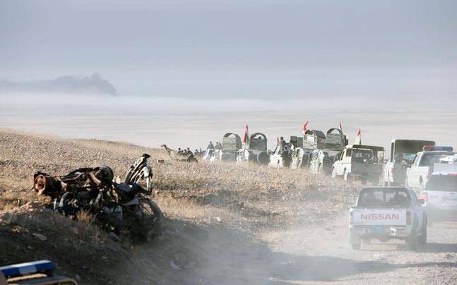 Forces advance in the east of Mosul to attack Islamic State militants in Mosul