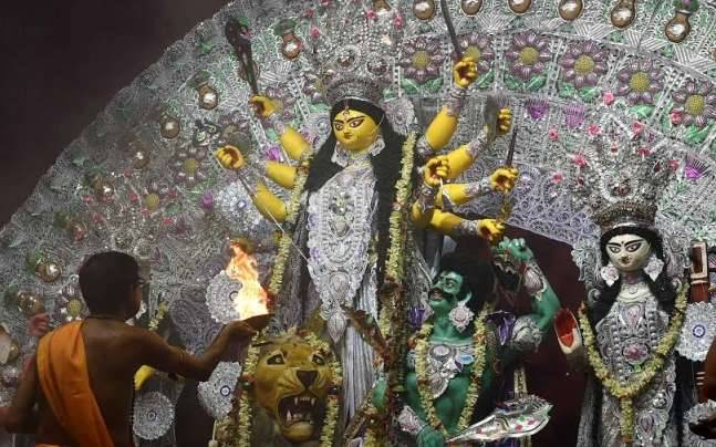 Durga Puja celebrations in Delhi.
