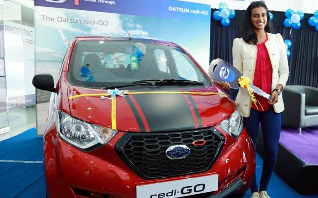 Datsun honours Olympic medallist P.V. Sindhu with redi-GO Sport
