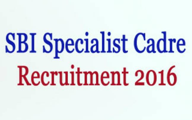 SBI specialist cadre officers' recruitment notification released at sbi.co.in