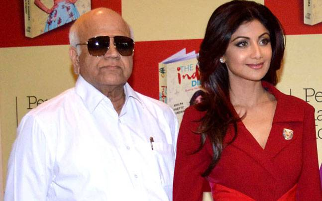 Shilpa Shetty and father Surendra Shetty