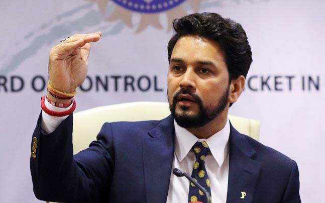 A file image of BCCI chief Anurag Thakur. (Reuters Photo)