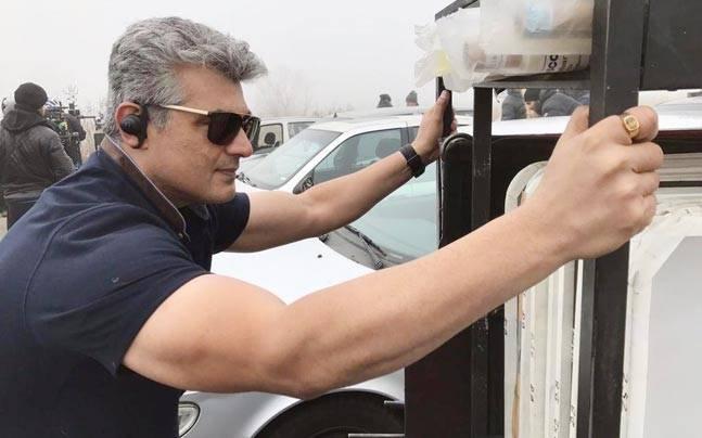 See Pic Ajith Kumar Looks Dashing On The Sets Of Thala 57 Movies News