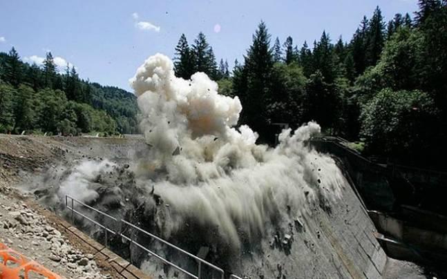 Dam destruction