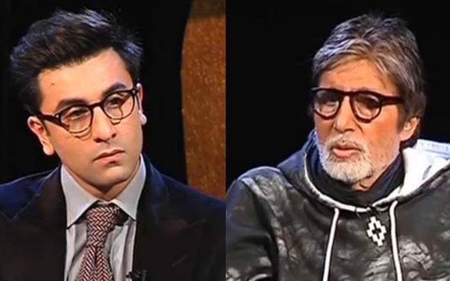 Ranbir Kapoor (L) and Amitabh Bachchan